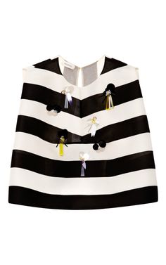 278d661539638 Stripe Embellished Top by DELPOZO for Preorder on Moda Operandi Boxy Crop  Top