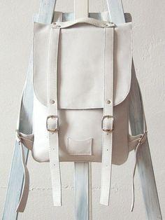 White leather backpack rucksack / To order by kokosina on Etsy