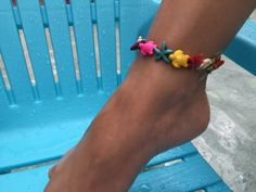 Turtle Starfish Anklet Turquoise Howlite Anklet Gemstone Anklets Beach Anklet…