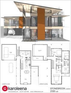 Small Modern House Plan and Elevation 1500sft Plan #552-2 | Small ...