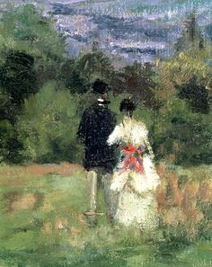 Lovers (detail) ~ Camille Pissarro ~ (French: 1830-1903)