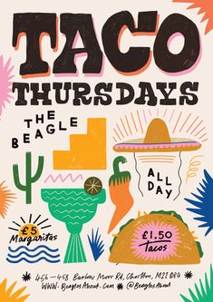 The creative space of Manchester based graphic designer / illustrator, Han Valentine ✸ Graphic Design Posters, Graphic Design Typography, Graphic Design Illustration, Graphic Design Inspiration, Mexican Graphic Design, Branding Design, Illustration Art, Food Graphic Design, Logo Design