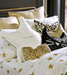 Love these fun sequined pillows