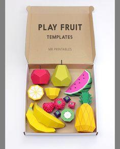 Как сделать овощи и фрукты из бумаги | Материнство - беременность, роды, питание, воспитание