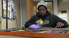 """MILWAUKEE(WITI) -- Art is an escape for Sandra, who prefers we not use her last name. With each cut and mold of the fabric she's working with, she feels the pain of homelessness disappear. """"It's a..."""