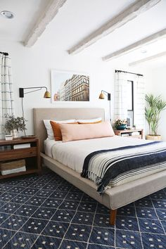 modern eclectic bedroom #home #style