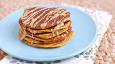 These Sweet Potato Protein Pancakes are made with protein-rich ingredients like cottage cheese and eggs. No protein powder required and they make a great breakfast or post workout snack. Breakfast And Brunch, High Protein Breakfast, Healthy Breakfast Recipes, Breakfast Ideas, Healthy Recipes, Weekly Recipes, Healthy Breakfasts, Sunday Brunch, Healthy Nutrition