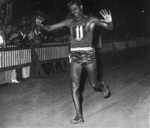 1964 Abebe Bikila (Ethyopie) JO de Tokyo  Japon