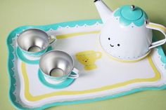 Cutest tea set ever! Art For Kids, Crafts For Kids, Wild Olive, Sweet Little Things, Kitchen Magic, Pink Houses, Perfect World, Cute Crafts, Tea Set