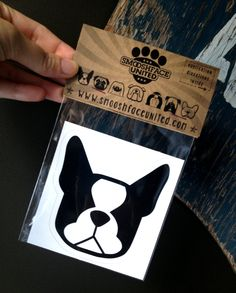 Boston terrier dog decal vinyl stickers You by SmooshfaceUnited, $6.50