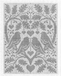 (5) Gallery.ru / Фото #1 - 255 - saltic Cross Stitch Sampler Patterns, Cross Stitch Samplers, Filet Crochet Charts, Fillet Crochet, Cross Stitch Bird, Crochet Tablecloth, Crochet Art, Baby Patterns, Pixel Art