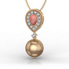 Best Online Diamond Jewellery store in India. Gold Pendant, Diamond Pendant, Diamond Jewelry, Pendant Necklace, Diamonds And Gold, Jewelry Collection, Pendants, Random, Stuff To Buy