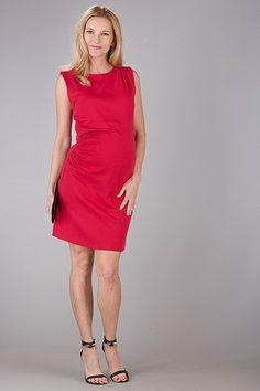 Červené krátké těhotenské šaty na svatbu Dresses For Work, Fashion, Moda, Fashion Styles, Fashion Illustrations