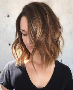 Wavy Brunette Lob, click now for info. Thin Hair Cuts, Bobs For Thin Hair, Wavy Bobs, Straight Hair, Layered Bob Haircuts, Long Bob Haircuts, Layered Hairstyles, Bob Haircut For Fine Hair, Lob Haircut