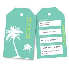 PRINTABLE ANY COLOUR Save the Date Overseas by InvitesbyEmma, £10.00