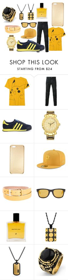 """""""Black And Gold"""" by raeraequanfitzgeraldparrish ❤ liked on Polyvore featuring JEM, Diesel Black Gold, adidas, JBW, Balmain, New Era, Gucci, Yves Saint Laurent, David Yurman and West Coast Jewelry"""