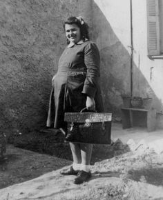 A photo of a girl in her school uniform. Athens, Greece, 1948. Courtesy Peloponnesian Folklore Foundation, all rights reserved.