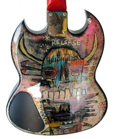 Custom, hand-painted guitar by Jesse Reno.