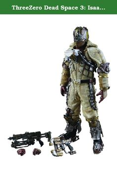 """ThreeZero Dead Space 3: Isaac Clarke Figure (Snow Suit Version) (1:6 Scale). From three zero. Standing approximately 12"""" H (1/6 scale), this fully articulated figure of Isaac Clarke - as he appears in Dead Space 3 - includes: multiple hands (one pair of relaxed palms, one pair of fists, one right palm for holding gun, one left palm for holding his rifle); his 211-V Plasma Cutter and Aug Shotgun; realistic paint application to highlight all the details in armor parts and fabric clothing…"""