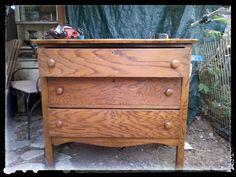 SK's Copper Patina and Oak Bath Vanity