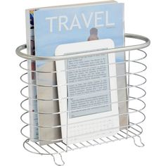 Keep a stack of light reading handy in the living room or corral outgoing mail on your entryway console with this stainless steel magazine holder, featuring ...