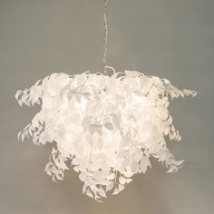 Romantic hanging lamp white with leaves - Feder Pendant Lamp, Feather, New Homes, Chandelier, Ceiling Lights, Led, Lighting, Modern, Home Decor