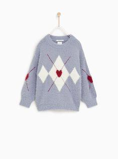 CHOOSE A SIZE. Zara Denim Jacket, Cool Sweaters, Argyle Sweaters, Pullover Mode, Boho Chic, Faux Shearling Coat, Zara Boys, Blazers, Moda Boho