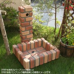 g-life | Rakuten Global Market: FRP water faucet pillar cover brick style new JJ [water taps and stand flush and flush pillars / water supply / brick-like brick exterior / garden / new / gardening / horticultural /DIY / mail order]