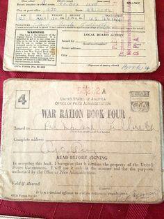 Ration book #4 -Lloyd G. Culbreth Collection