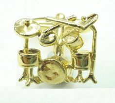 """Gold Plated Rock 'n Roll Drum Kit Cufflinks Cuff Links Silver Smith Cufflinks. $28.88. Approximately 3/4"""" x 1/2"""". Comes packaged in a Limited Edition Collectors Storage Box!. Free Gift Wrapping with each order!"""