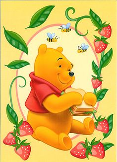 Pooh- A full stomach, happy thoughts and friends. No wonder a smile is on Pooh's face. Winnie The Pooh Pictures, Cute Winnie The Pooh, Winne The Pooh, Winnie The Pooh Quotes, Disney Pixar, Baby Disney, Disney Magic, Disney Art, Eeyore