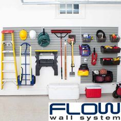 For the DIY Guy (or Gal): Flow Wall Garage & Hardware Storage System | This 48-foot powder-coated steel storage system is perfect for neatly organizing all of your go-to tools and accessories. | @overstock