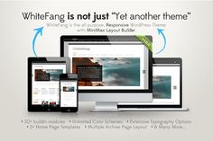 """WhiteFang – Responsive WP Theme Themes White Fang is not just """"Yet Another WordPress Theme"""". It is fully responsive WordPress Theme with M by WordPress Eden"""