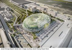 "Safdie+Architects+Design+Glass+""Air+Hub""+for+Singapore+Changi+Airport"