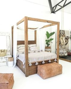 100 Inspiring White Bedding Boho Ideas Farmhouse ideas to make your home your own. Bedroom Bed, Bedroom Furniture, Master Bedroom, Bedroom Decor, Rattan Furniture, Furniture Nyc, Bedroom Ideas, Cheap Furniture, Bedding Decor