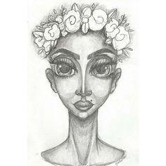 🙏✨ #illustration #art #illustratorsoninstagram #illustrator #characterdesign #character #sketch #sketching #sketchbook #draw #drawings #drawings #desenho #ilustração #ilustra #love #flower #flowercrown #neck #girl #male #gender #genderfluid #female #eyes #bigeyes #blackandwhite #gray #face #mug