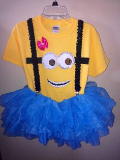 Homemade minion costume
