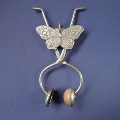 Rare Victorian Butterfly Skirt Lifter Clamp for Dress
