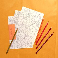 Mini Autumn Coloring Book   A5 autumn by justprintandcolor on Etsy