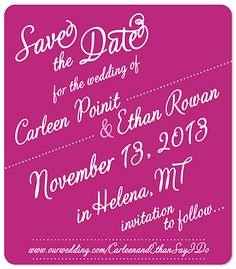 Save the Date Wedding Magnets - Heart