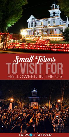 10 Best U. Small Towns to Visit for Halloween - Travel tips - Travel tour - travel ideas Best Places To Travel, Vacation Places, Vacation Destinations, Vacation Trips, The Places Youll Go, Vacation Spots, Cool Places To Visit, Places To Go, Weekend Trips