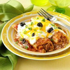 Mexican Manicotti Recipe from Taste of Home -- shared by Lucy Shifton of Wichita, Kansas