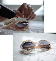 sunglasses with pearls