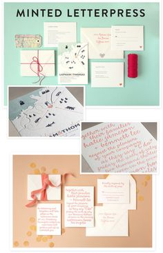 Gorgeous Letterpress Stationery from Minted + A GIVEAWAY!