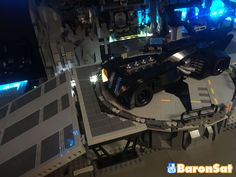 https://flic.kr/p/26HKzxq | PLATFORM BATCAVE | Rotating platform for the Batcave project.  More onformations here : www.flickr.com/photos/8107354@N03/41578228724/in/datepost...  Note the chromed parts my customers used on my model, it's a very cool idea. Plus you can see a part of the whole model with lighting.  www.baronsat.net/  BTW I'm testing a new logo, so comments are welcome :)