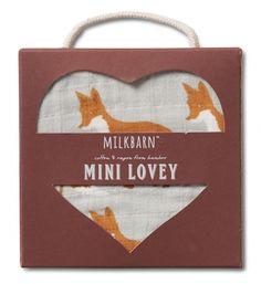 Milk Barn Mini Lovey - Orange Fox at Black Wagon