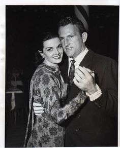 Jane Russell & Husband Bob Waterfield Dancing at Mocambo - '51.....Uploaded By www.1stand2ndtimearound.etsy.com