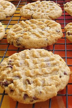 Peanut Butter Chocolate Chip Cookies II Peanut butter and chocolate chip cookies made with natural peanut butter and kosher salt. Delicious Cookie Recipes, Yummy Cookies, Baking Recipes, Sweet Recipes, Fall Cookies, Chocolate Peanut Butter, Peanut Butter Cookies, Butter Chocolate Chip Cookies, Köstliche Desserts