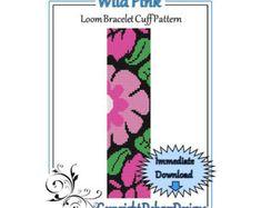 Patrón de grano LoomBracelet Cuffcaramelo por LoomTomb en Etsy