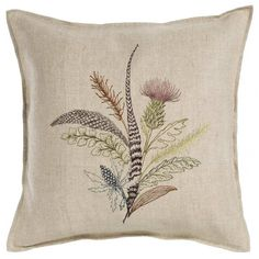 """Thistle Pillow 16""""x16"""" #16""""-x-16"""" #All-Products #pillow"""